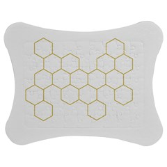 Honeycomb Pattern Graphic Design Jigsaw Puzzle Photo Stand (bow)