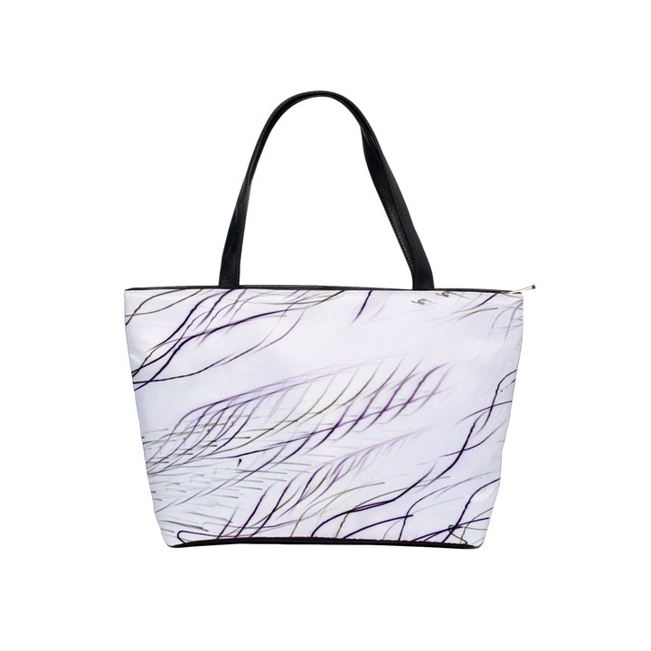 Lilac stripes Shoulder Handbags