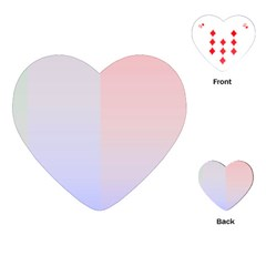 Colorful Colors Playing Cards (heart)