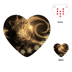 Golden Feather And Ball Decoration Playing Cards (heart)