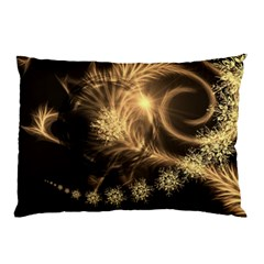 Golden Feather And Ball Decoration Pillow Case (two Sides)