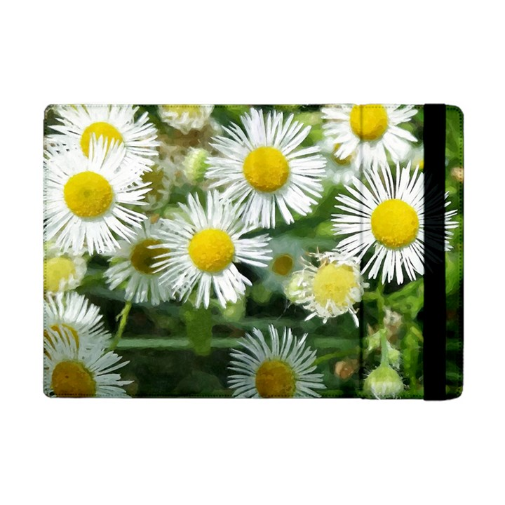 White summer flowers, watercolor painting Apple iPad Mini Flip Case