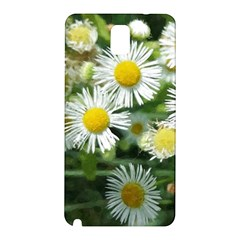 White Summer Flowers, Watercolor Painting Samsung Galaxy Note 3 N9005 Hardshell Back Case