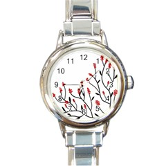 Elegant tree Round Italian Charm Watch