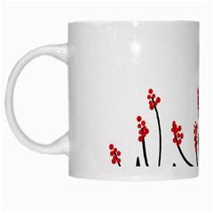 Elegant tree White Mugs