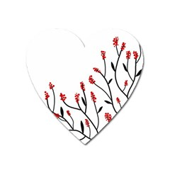 Elegant tree Heart Magnet