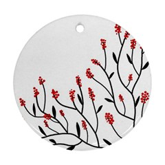 Elegant tree Round Ornament (Two Sides)