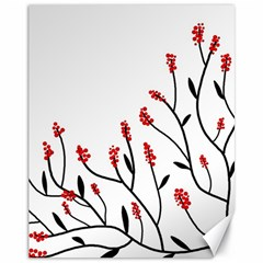 Elegant tree Canvas 11  x 14