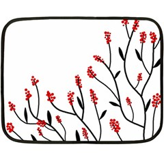 Elegant tree Fleece Blanket (Mini)