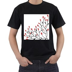 Elegant tree Men s T-Shirt (Black)