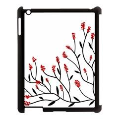 Elegant tree Apple iPad 3/4 Case (Black)