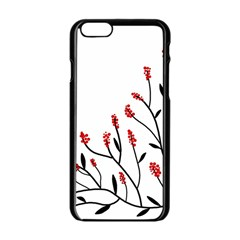 Elegant tree Apple iPhone 6/6S Black Enamel Case