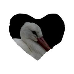 Wild Stork Bird Standard 16  Premium Flano Heart Shape Cushions