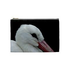 Wild Stork Bird, Close Up Cosmetic Bag (medium)