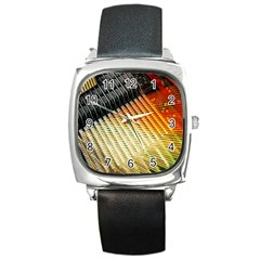 Technology Circuit Square Metal Watch
