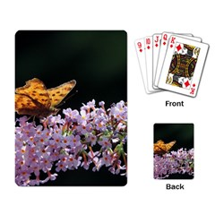 Butterfly Sitting On Flowers Playing Card