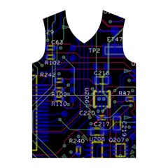 Technology Circuit Board Layout Men s Basketball Tank Top