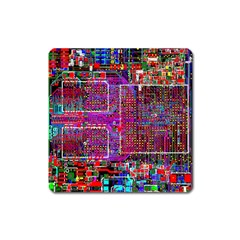 Technology Circuit Board Layout Pattern Square Magnet
