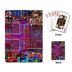 Technology Circuit Board Layout Pattern Playing Card