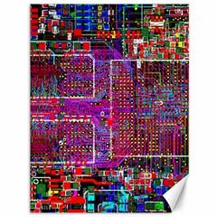 Technology Circuit Board Layout Pattern Canvas 36  x 48