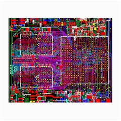 Technology Circuit Board Layout Pattern Small Glasses Cloth (2-Side)