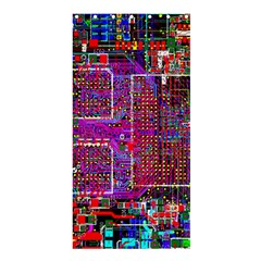 Technology Circuit Board Layout Pattern Shower Curtain 36  x 72  (Stall)