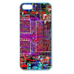 Technology Circuit Board Layout Pattern Apple Seamless iPhone 5 Case (Color)