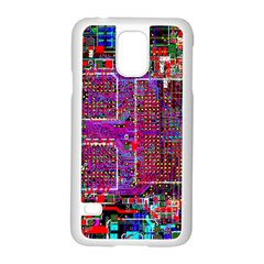 Technology Circuit Board Layout Pattern Samsung Galaxy S5 Case (White)