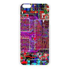 Technology Circuit Board Layout Pattern Apple Seamless iPhone 6 Plus/6S Plus Case (Transparent)
