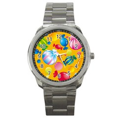 Sweets And Sugar Candies Vector Sport Metal Watch