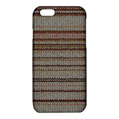 Stripy Knitted Wool Fabric Texture iPhone 6/6S TPU Case