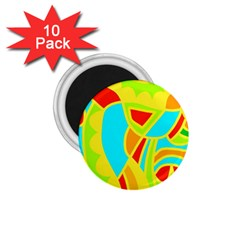 Colorful decor 1.75  Magnets (10 pack)