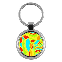 Colorful decor Key Chains (Round)
