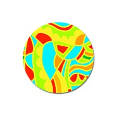 Colorful decor Magnet 3  (Round)