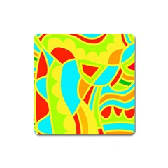 Colorful decor Square Magnet