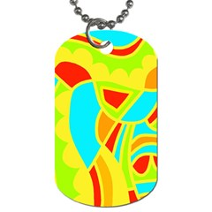 Colorful decor Dog Tag (One Side)