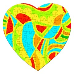 Colorful decor Jigsaw Puzzle (Heart)