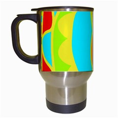 Colorful decor Travel Mugs (White)