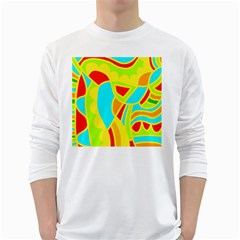 Colorful decor White Long Sleeve T-Shirts