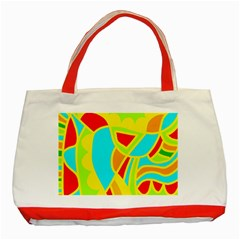 Colorful decor Classic Tote Bag (Red)