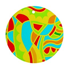 Colorful decor Round Ornament (Two Sides)