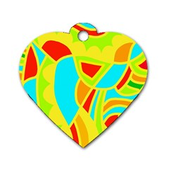 Colorful decor Dog Tag Heart (Two Sides)