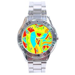 Colorful decor Stainless Steel Analogue Watch