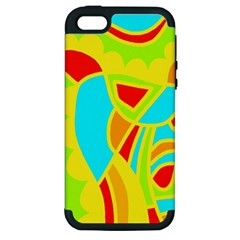 Colorful decor Apple iPhone 5 Hardshell Case (PC+Silicone)
