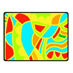 Colorful decor Double Sided Fleece Blanket (Small)
