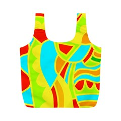 Colorful decor Full Print Recycle Bags (M)