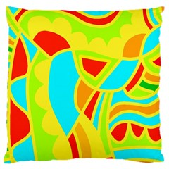 Colorful decor Standard Flano Cushion Case (Two Sides)