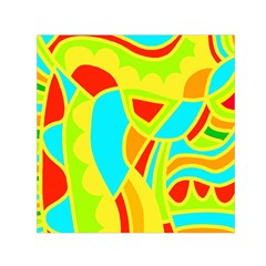 Colorful decor Small Satin Scarf (Square)