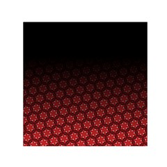 Ombre Black And Red Passion Floral Pattern Small Satin Scarf (square)
