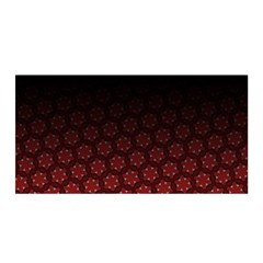 Ombre Black And Red Passion Floral Pattern Satin Wrap